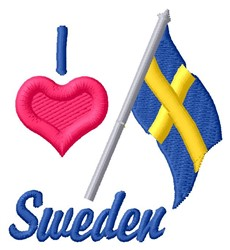 Love Sweden embroidery design