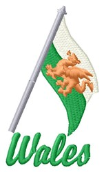Wales embroidery design