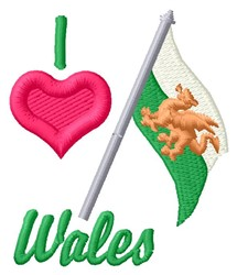 Love Wales embroidery design