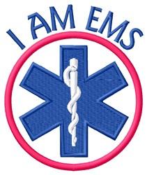 I Am EMS embroidery design