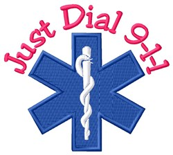 Just Dial 911 embroidery design