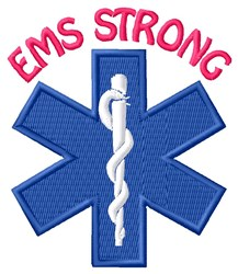 EMS Strong embroidery design
