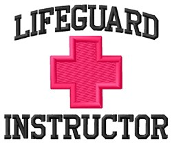 Lifeguard Instructor embroidery design