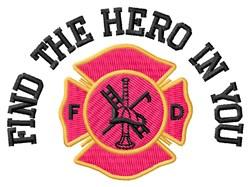 The Hero embroidery design