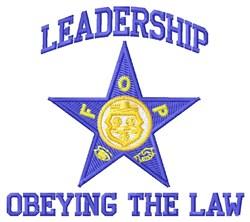 Leadership embroidery design