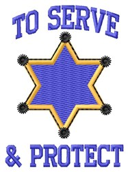 Serve & Protect embroidery design