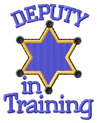 In Training embroidery design