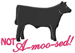 A-moo-sed embroidery design