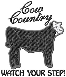 Cow Country embroidery design
