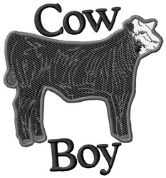 Cow Boy embroidery design