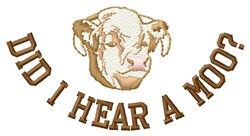 Hear A Moo embroidery design
