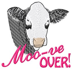 Moo-ve Over embroidery design
