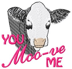 Moo-ve Me embroidery design