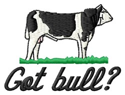 Got Bull? embroidery design