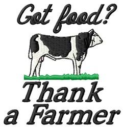 Thank A Farmer embroidery design