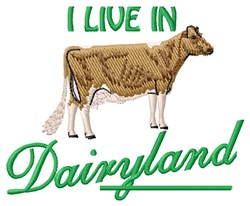 Dairyland embroidery design