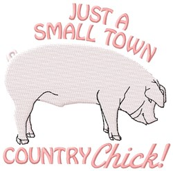 Country Chick embroidery design