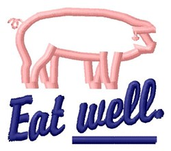 Eat Well embroidery design