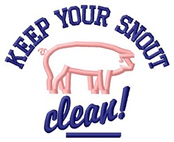 Snout Clean embroidery design