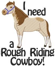 Rough Cowboy embroidery design
