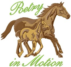 Poetry In Motion embroidery design
