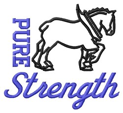 Pure Strength embroidery design