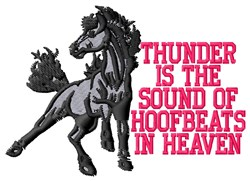 Thunder Hoofbeats embroidery design