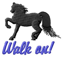 Walk On embroidery design
