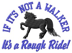 Rough Ride embroidery design
