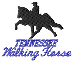 Walking Horse embroidery design