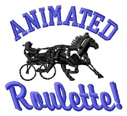 Animated Roulette embroidery design