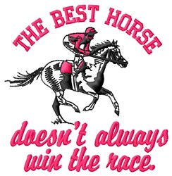 The Best Horse embroidery design