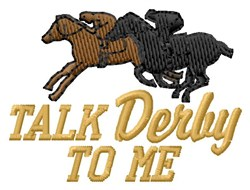 Talk Derby embroidery design