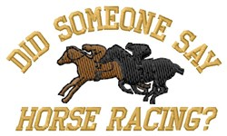 Horse Racing embroidery design