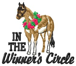 Winners Circle embroidery design