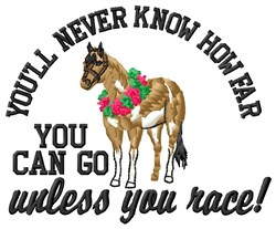 You Race embroidery design