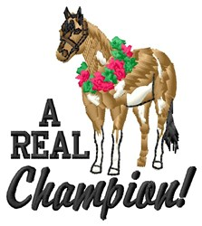 Real Champion embroidery design