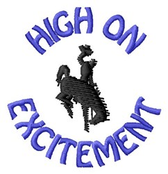 Excitement embroidery design