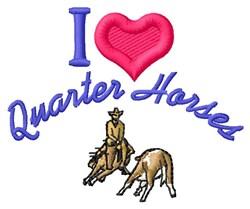 Love Quarter Horses embroidery design