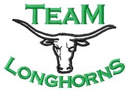 Team Longhorns embroidery design