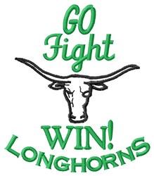 Go Longhorns embroidery design