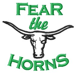 Fear The Horns embroidery design
