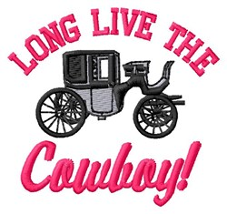 Long Live Cowboy embroidery design