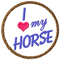 Love Horse embroidery design