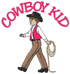 Cowboy Kid embroidery design
