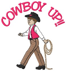 Cowboy Up embroidery design