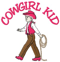 Cowgirl Kid embroidery design