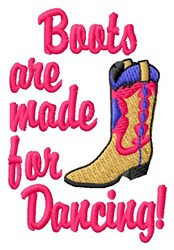 Dancing Boots embroidery design