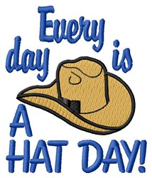 Hat Day embroidery design