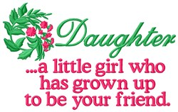Daughter embroidery design